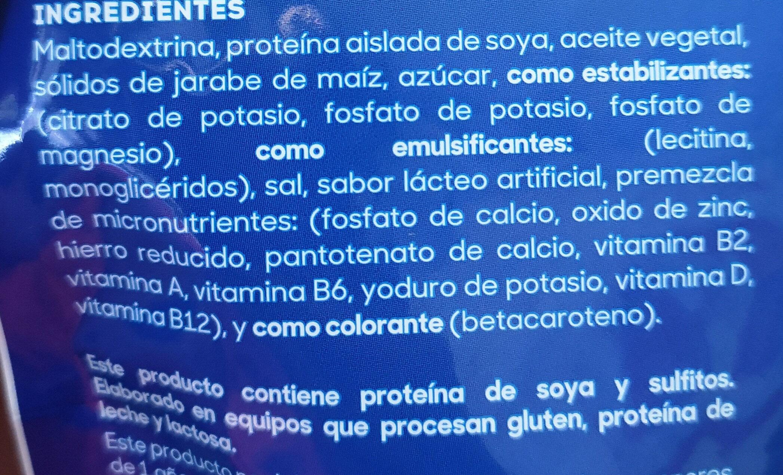 bebida de soya - Ingrediënten - es