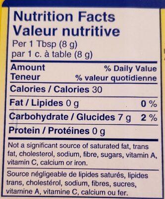 Fécule de maïs-Corn Starch - Voedingswaarden - en