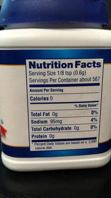 baking powder - Informations nutritionnelles - fr