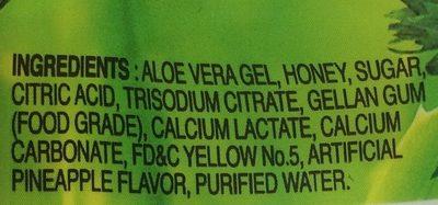 Aloe vera drink pineapple favor - Ingredients