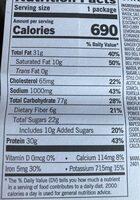 Chicken wrap - Nutrition facts - en