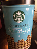 Starbucks chocolaty cookie straws - Product
