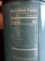 Starbucks chocolaty cookie straws - Nutrition facts