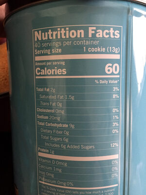 Starbucks chocolaty cookie straws - Nutrition facts