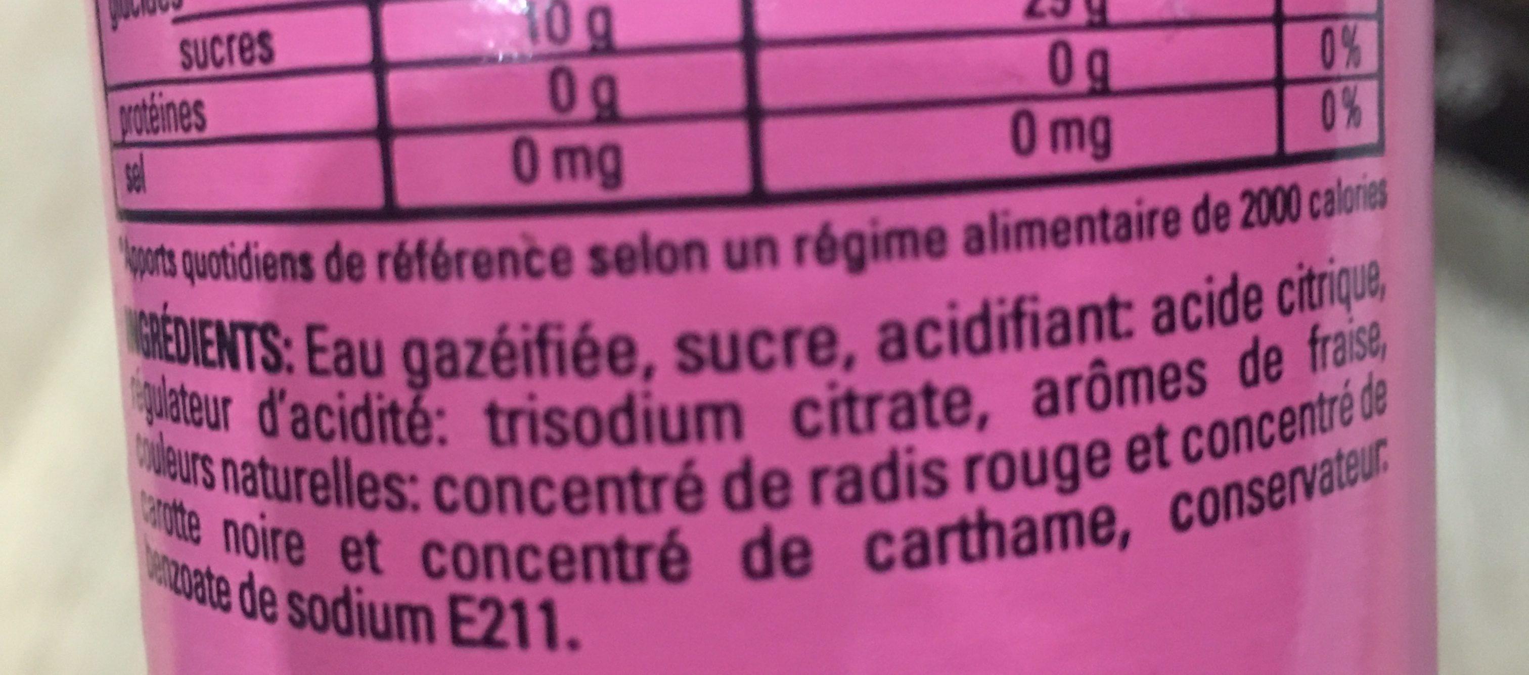 Freez Fraise - Ingrediënten - fr