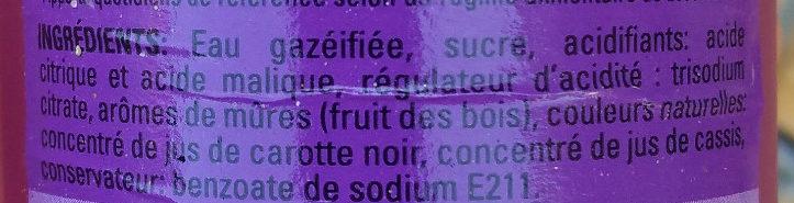 Freez mix  Mures Fruit des bois - Ingrédients
