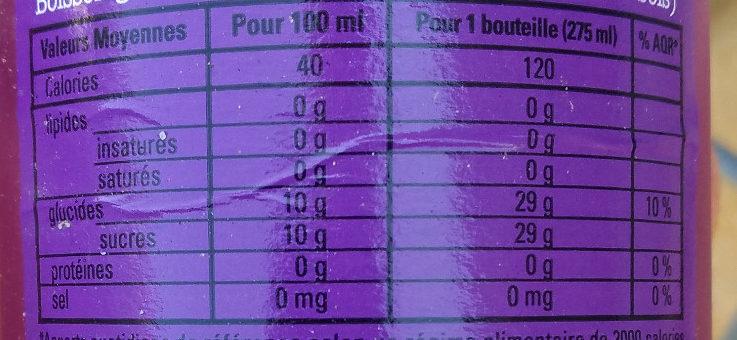 Freez mix  Mures Fruit des bois - Informations nutritionnelles