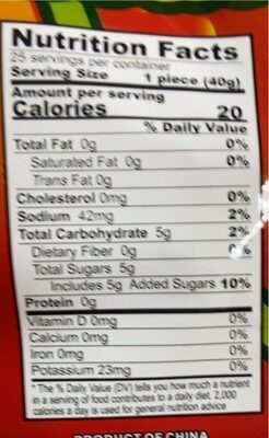 Fruiti-Licious - Nutrition facts - fr