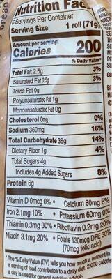 Artesano bakery sausage rolls - Nutrition facts - en