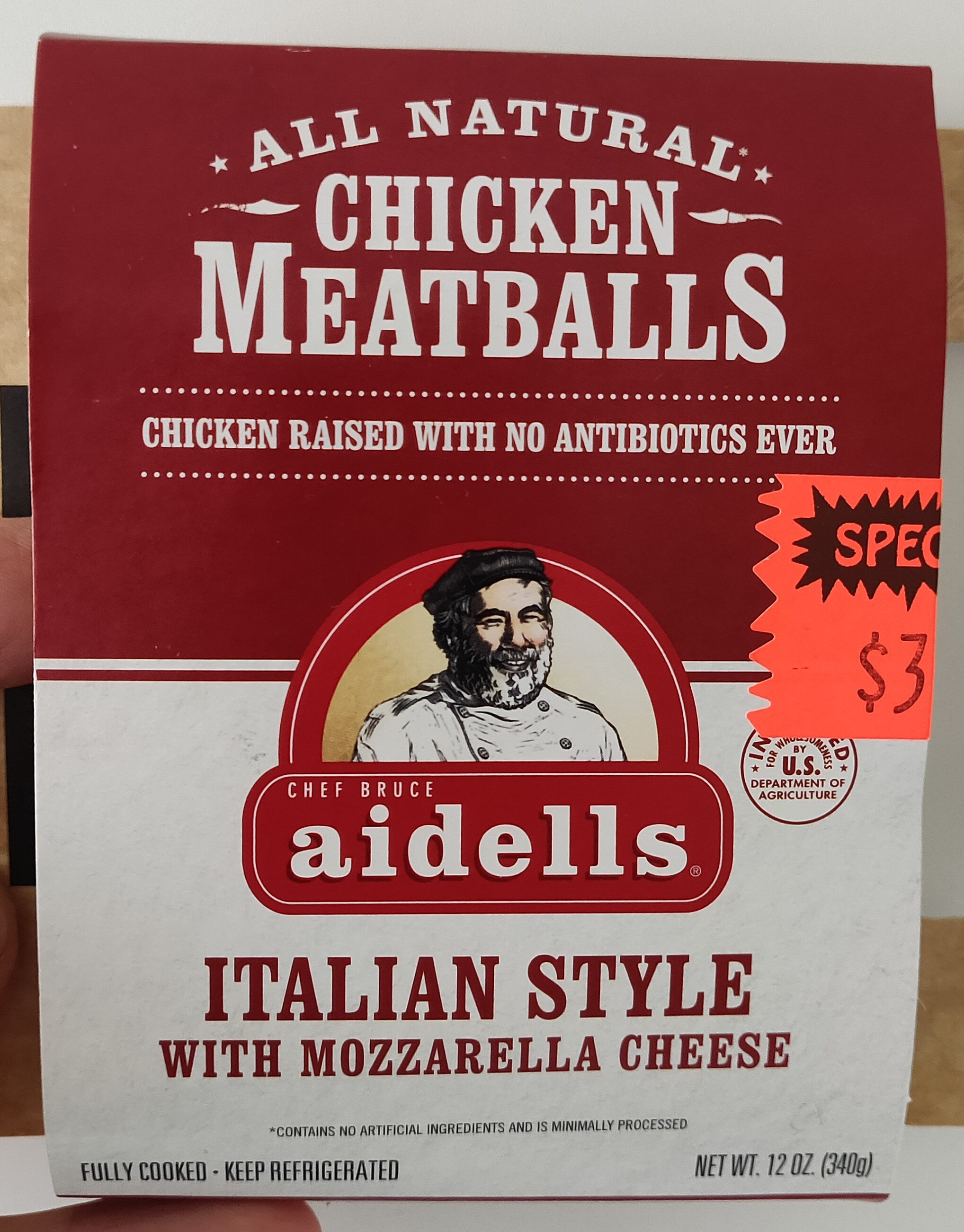 Aidells, italian style chicken meatballs, mozzarella cheese - Product - en