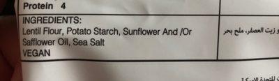 Lentil chips - Ingredients