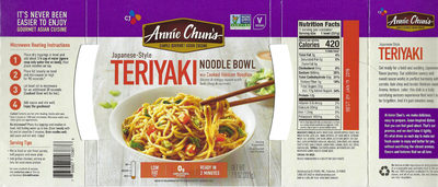 Teriyaki Fresh Cooked Hokkien Noodles With Tofu In A Savory Japanese Sauce - Product