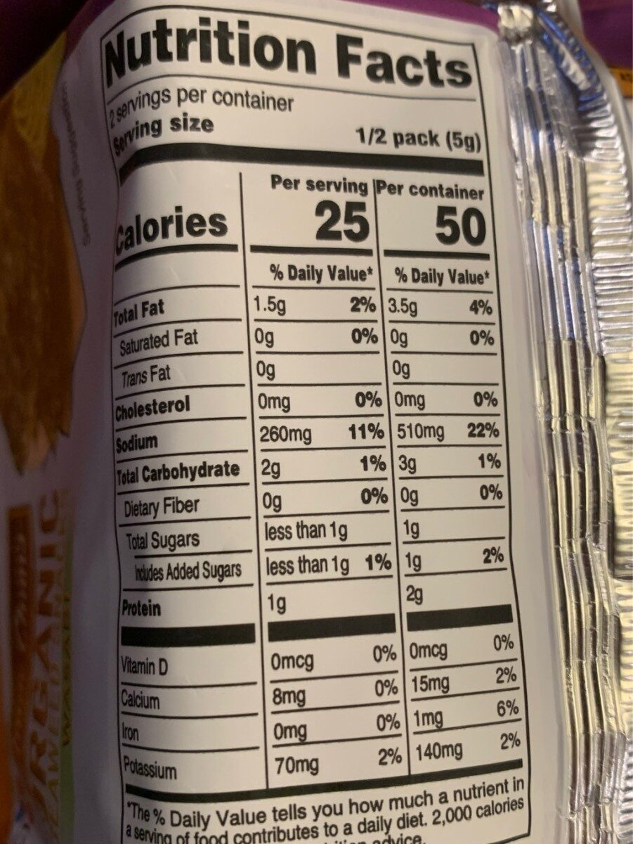 Wasabi seaweed chips - Nutrition facts - en
