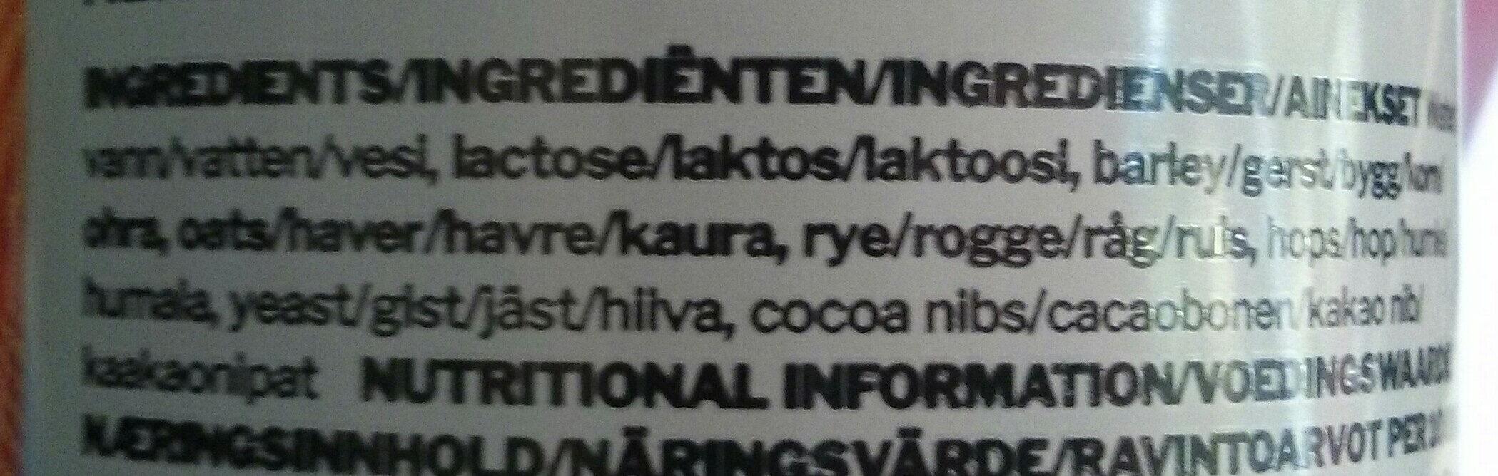 Stout - Ingredients - en