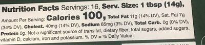 Kerrygold Naturally Softer Pure Irish Butter - Nutrition facts