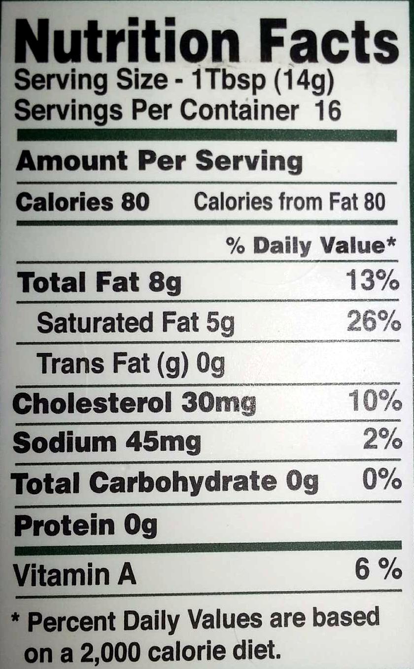 Kerrygold, reduced fat irish butter - Nutrition facts - en