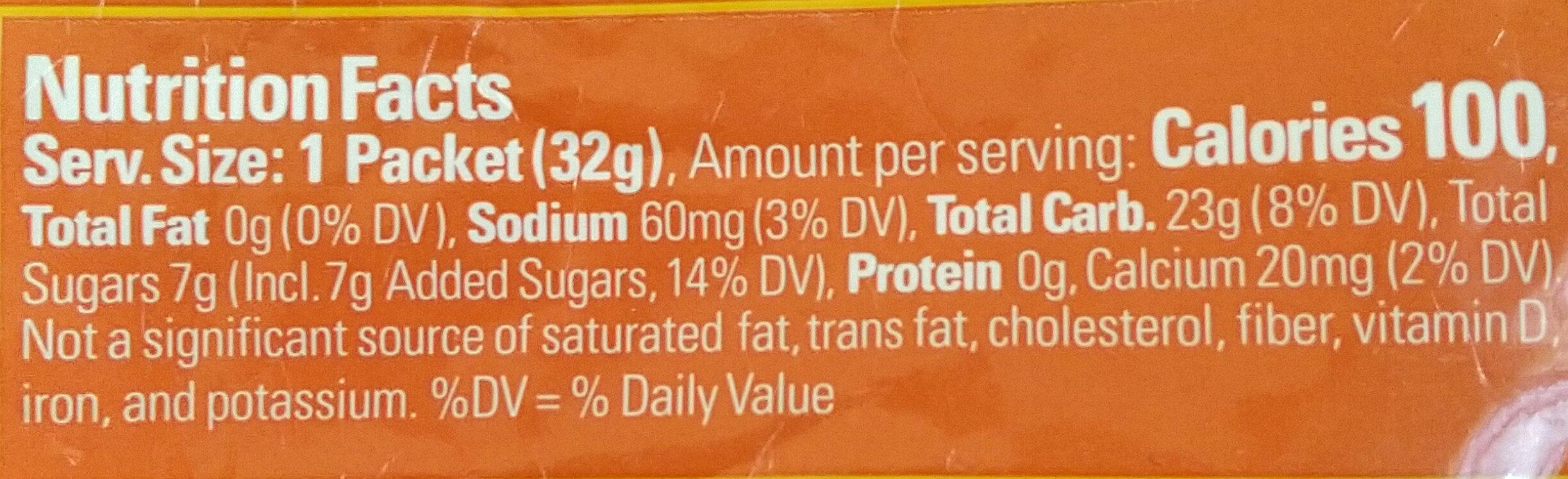 Mandarin orange energy gel - Nutrition facts - en