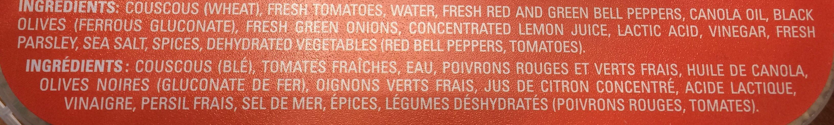 Salade Couscous - Ingrédients - fr
