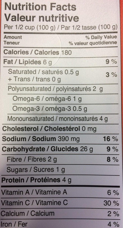 Salade Couscous - Informations nutritionnelles - fr