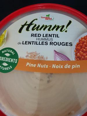 hummus de lentilles rouges - Produit - fr