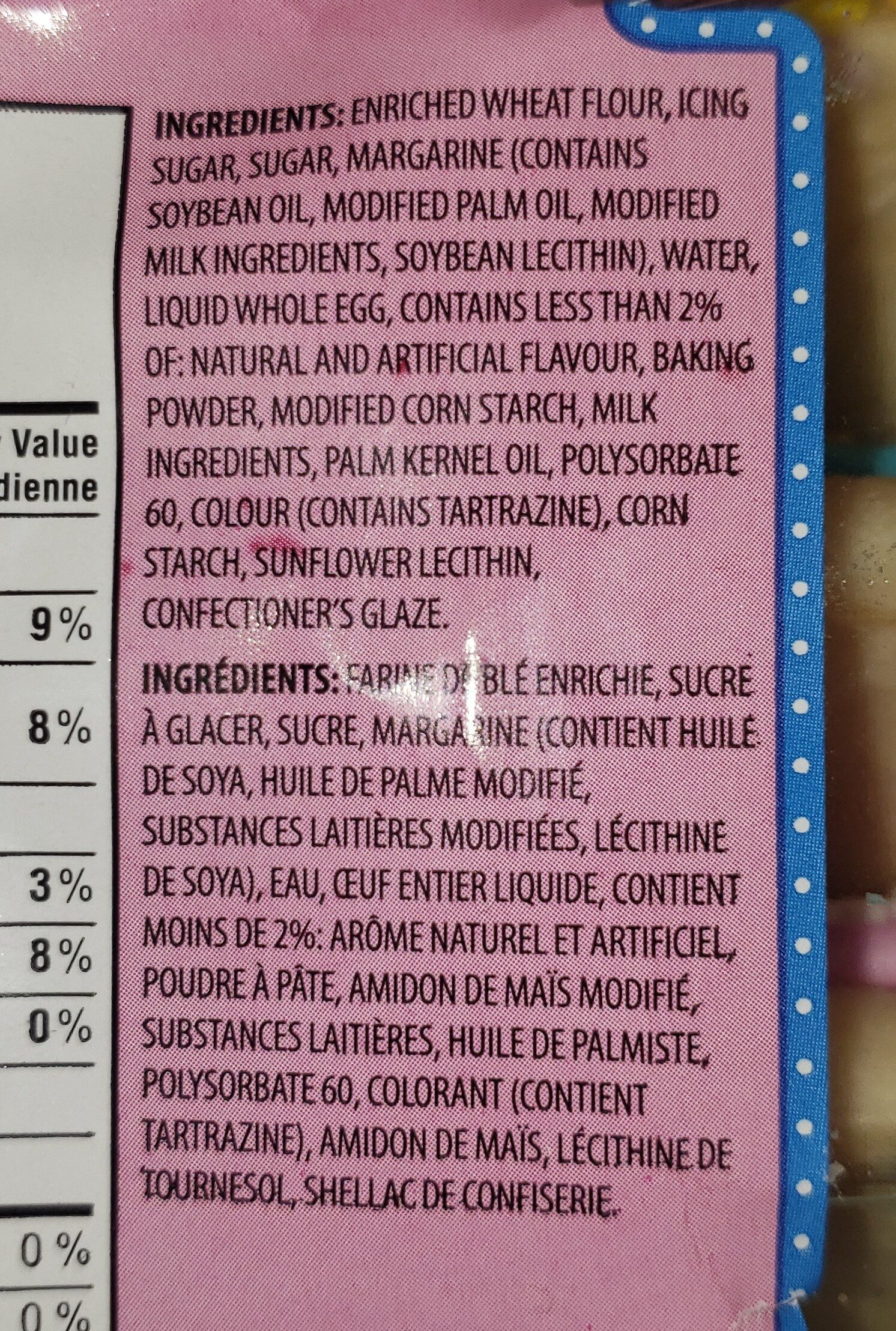 Kimberly soft sugar cookies - Ingrédients - en
