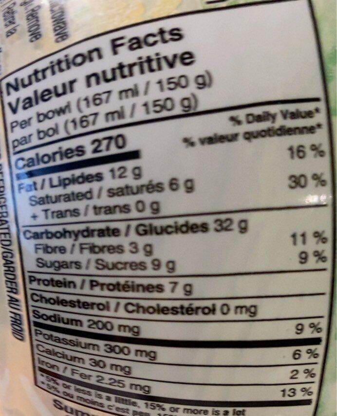Up&oat - Informations nutritionnelles - fr
