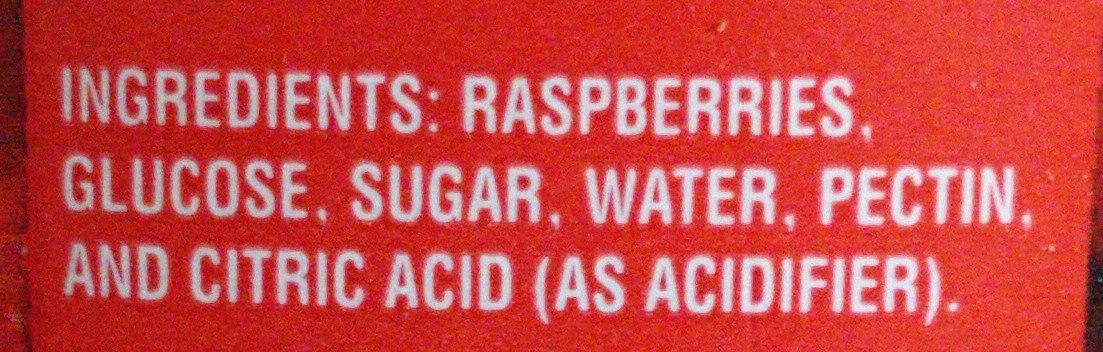 Raspberry jam - Ingredients - fr