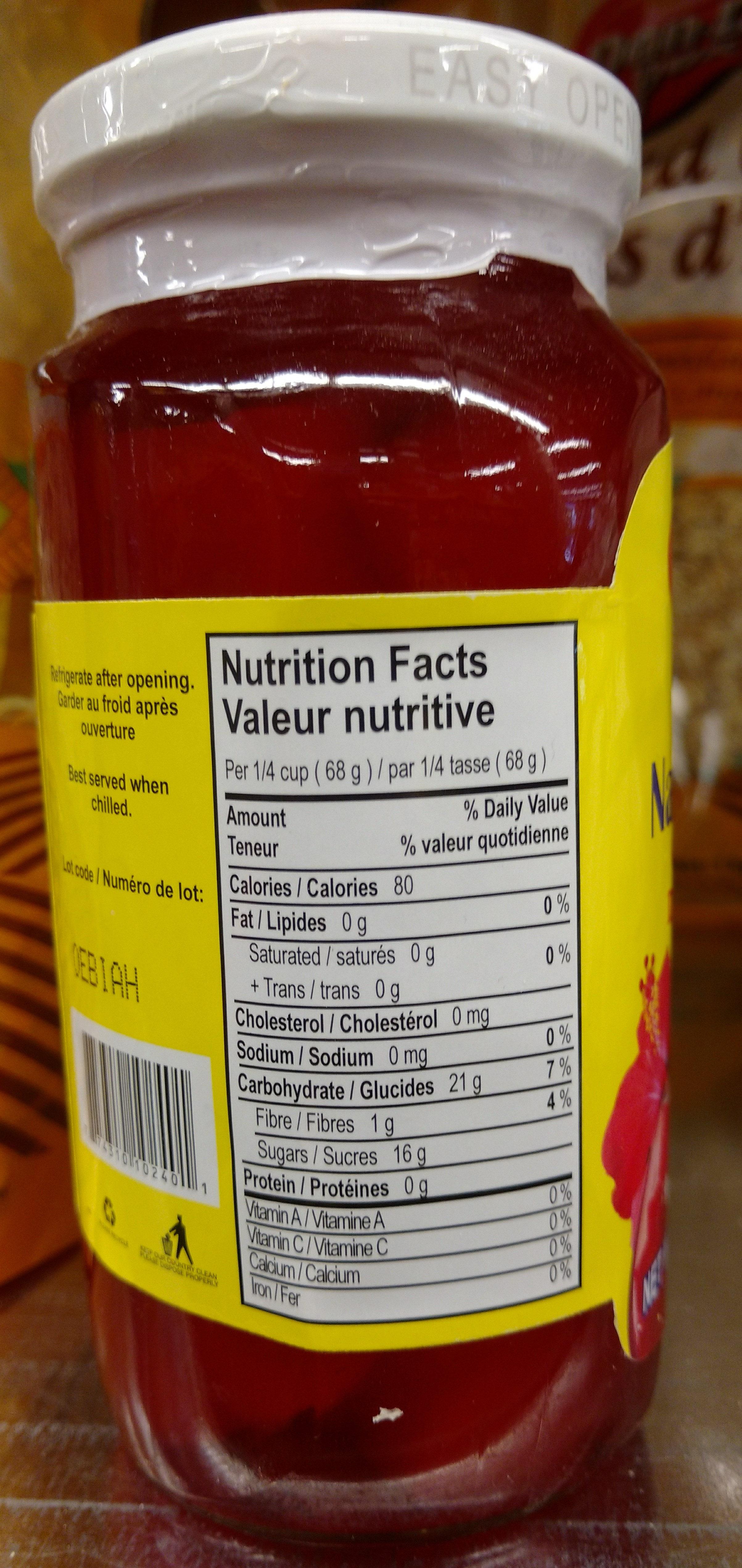 - Informations nutritionnelles - zh