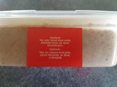 Cretonnade de veau - Ingredients - fr