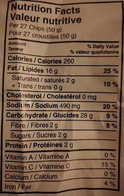 Croustilles Ketchup - Informations nutritionnelles - fr