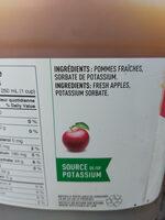 Jus de pommes - Ingredients - fr