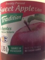 Sweet apple cider - Product - fr