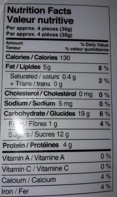 Assorted Almond Nougat Soft - Nutrition facts