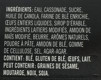 Pouding chômeur - Ingrédients - fr
