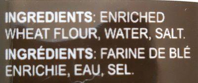 Nouilles udon - Ingrédients