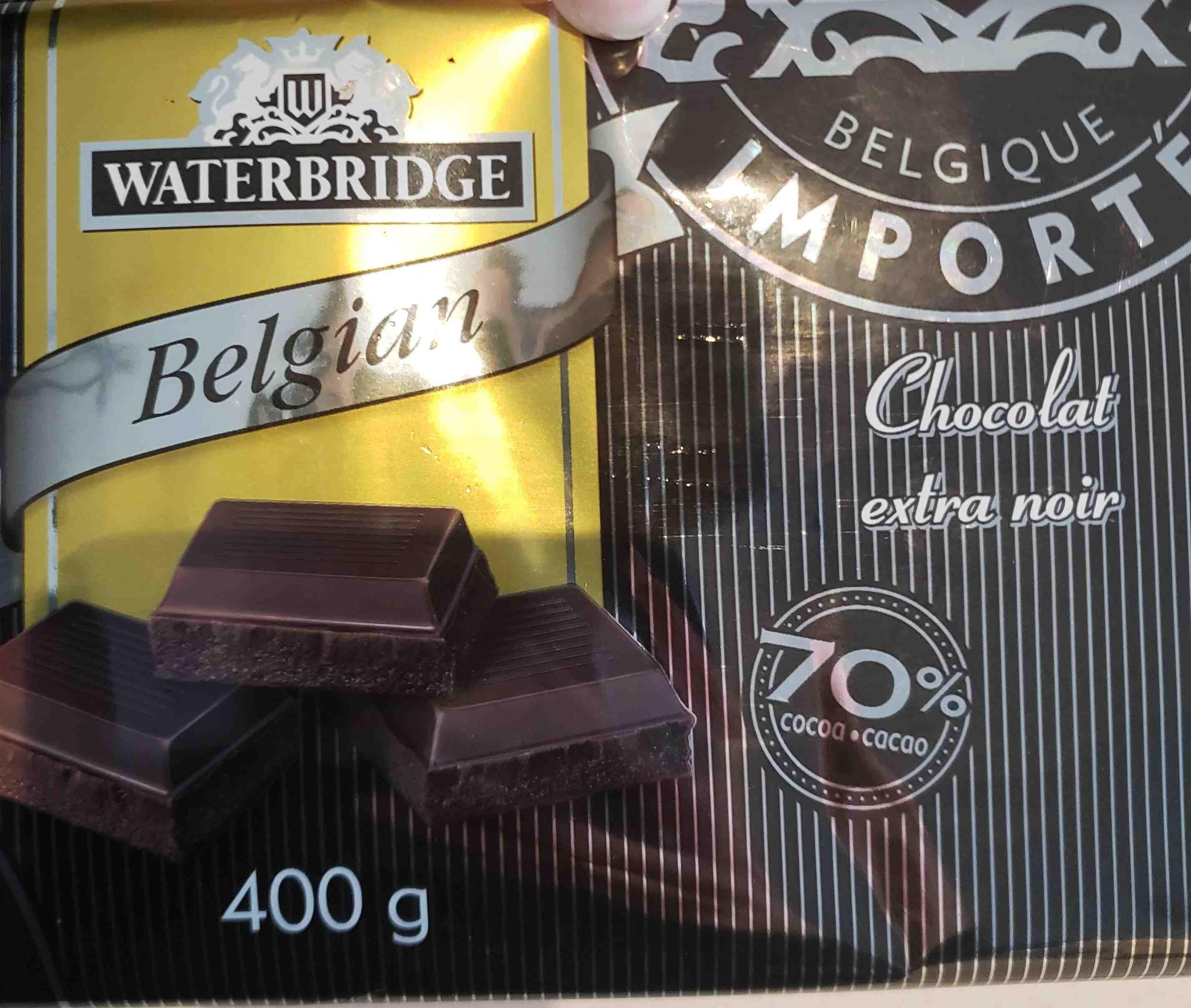 Waterbridge Belgian extra Dark Chocolate - Product
