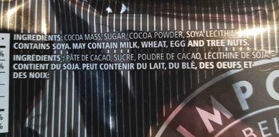 Waterbridge Belgian extra Dark Chocolate - Ingrediënten