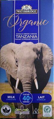 Chocolat lait Tanzanie - Product - fr