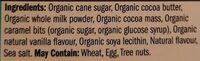 Caramel et sel marin chocolat au lait - Ingredients - en