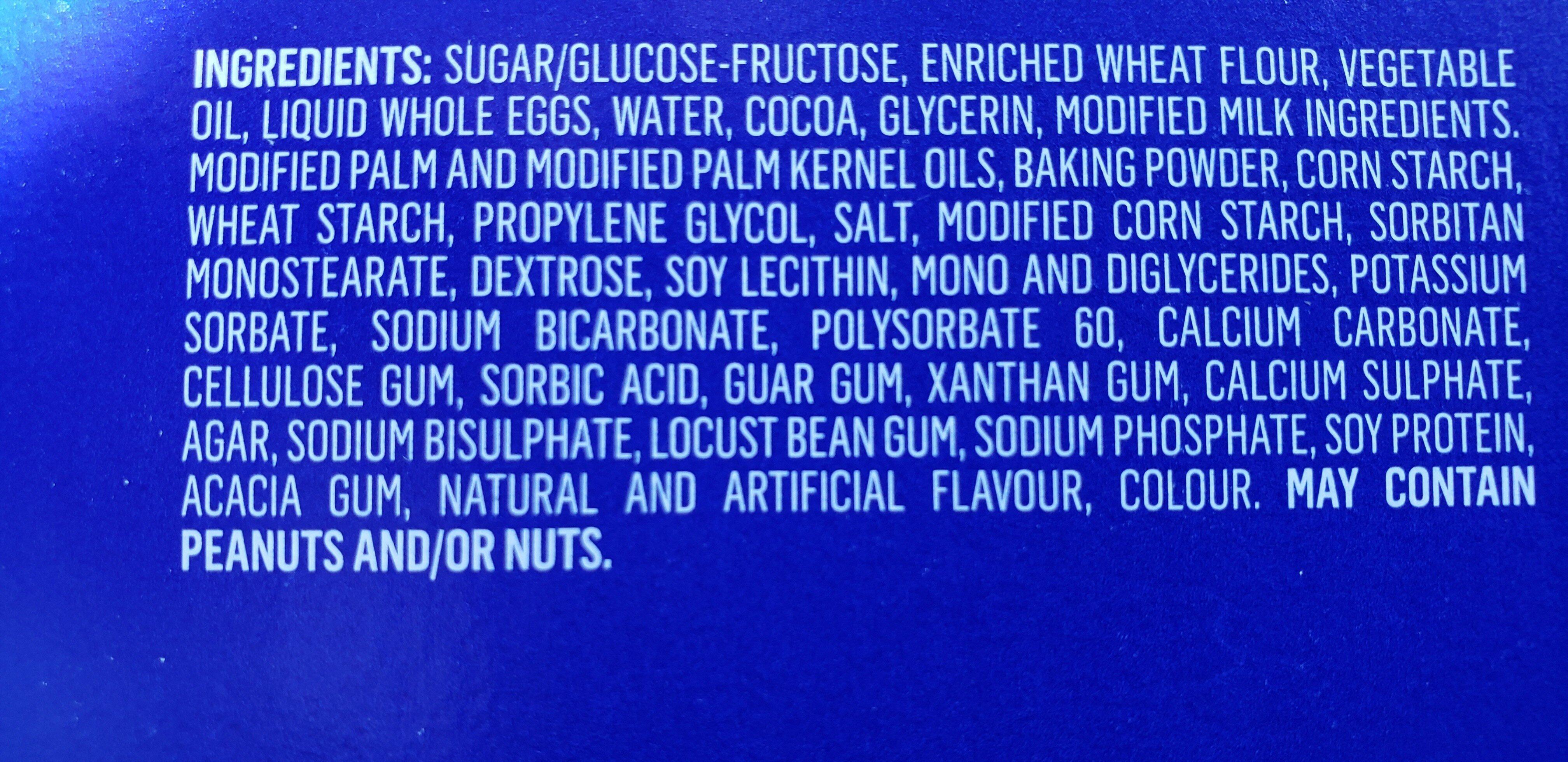 cupcakes - Inhaltsstoffe - en
