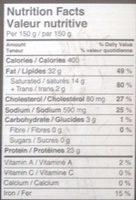 Galettes de bœuf Angus - Informations nutritionnelles - fr
