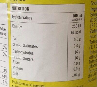 Niru Nelli Amla Flavour Drink Ltr - Informations nutritionnelles - fr