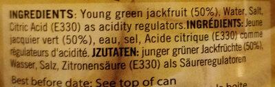 Young Green Jackfruit in Brine - Ingredients