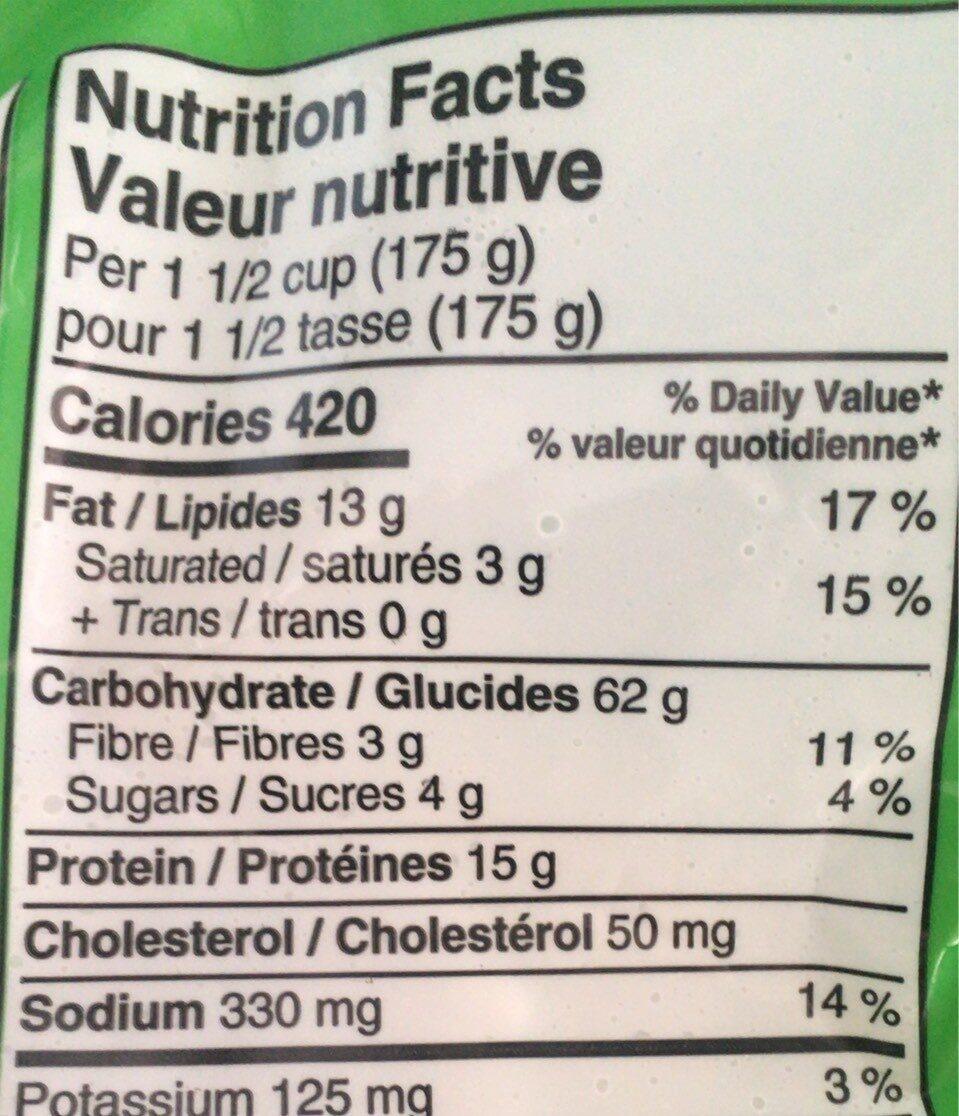 Tortellini boeuf - Nutrition facts - fr