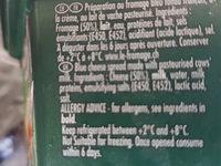saint agur creme - Ingrédients - fr