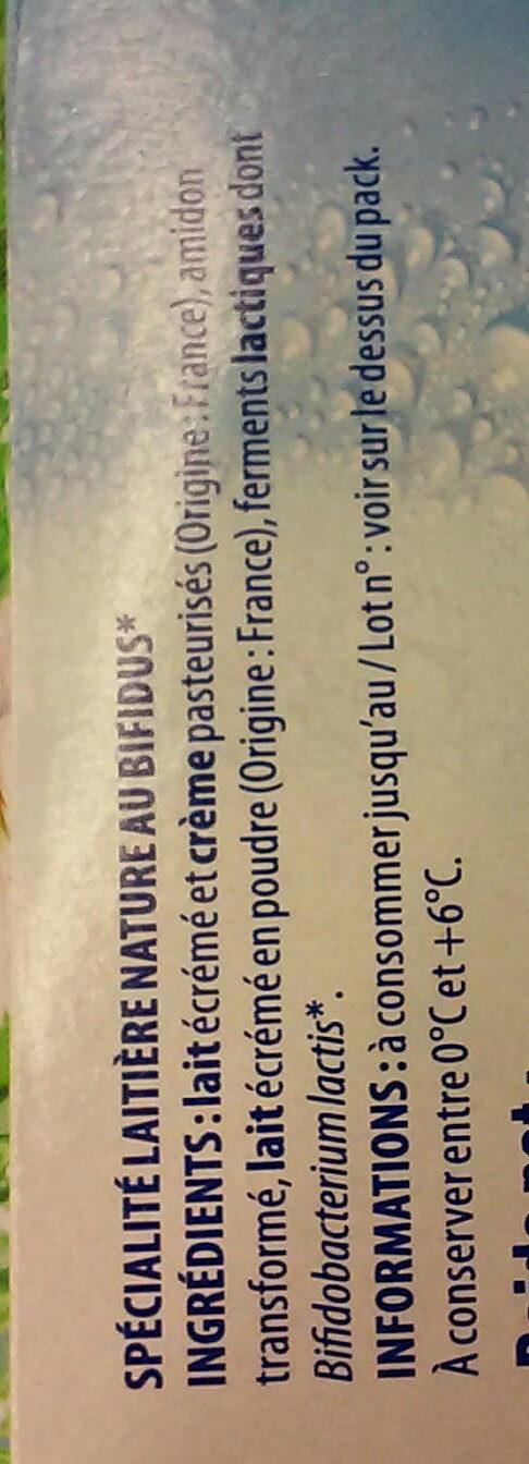 douceur de lait - Ingredients