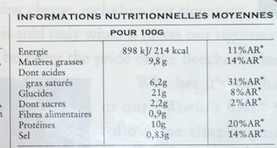 Beecher's, mac & cheese - Informations nutritionnelles - fr