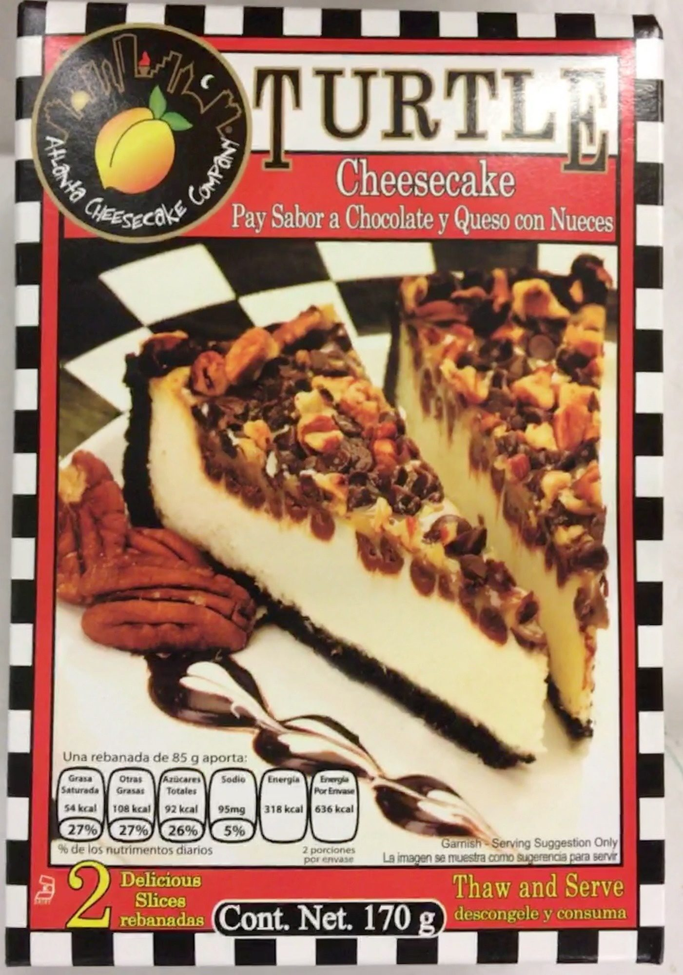 Turtle cheesecake - Producto - es