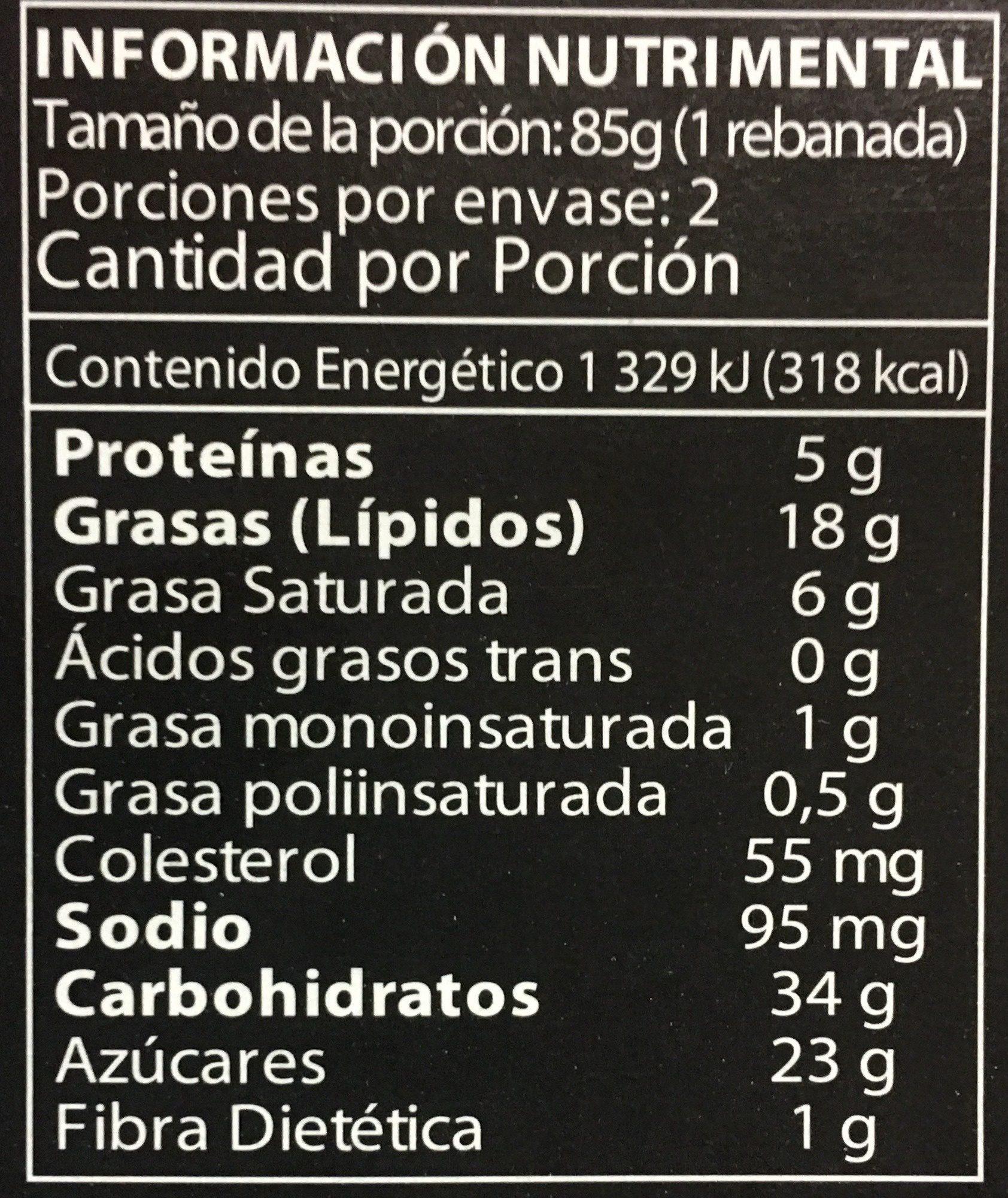 Turtle cheesecake - Información nutricional - es