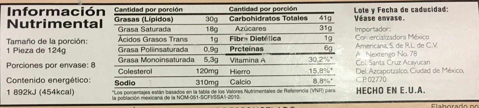 Grand cheesecake selection - Información nutricional - es